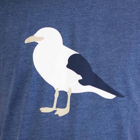 Cleptomanicx T-Shirt Gull 3 blau
