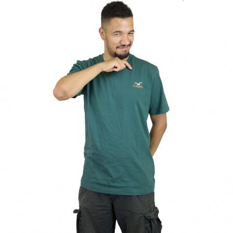 Cleptomanicx T-Shirt Pong dunkelgrün