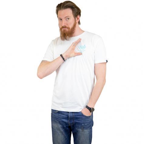 The Dudes T-Shirt Dolphin weiß