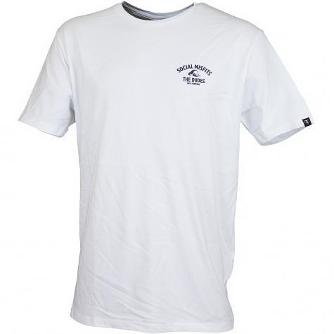 The Dudes T-Shirt Mr Finger weiß