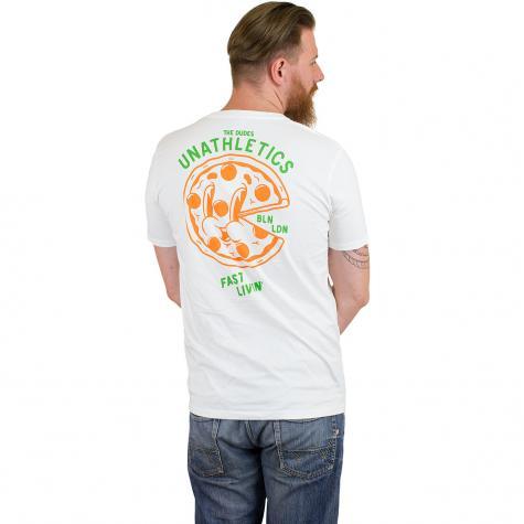 Dudes T-Shirt Pizza 24/7 weiß
