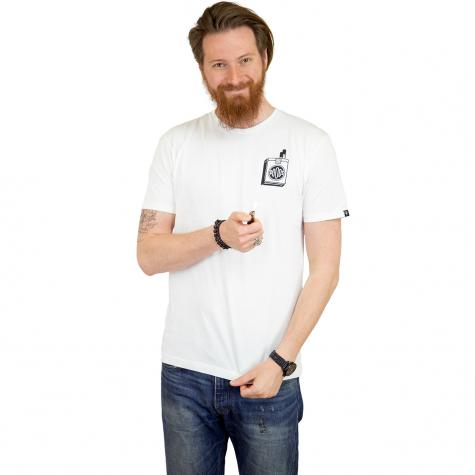 The Dudes T-Shirt Too Short weiß