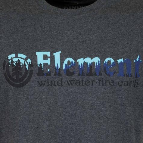 Element T-Shirt Glimpse Horizontal dunkelgrau