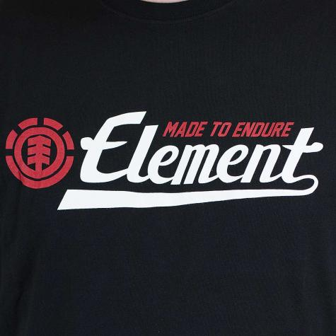 Element T-Shirt Signature flint schwarz