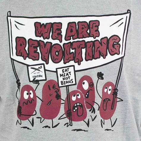 Iriedaily T-Shirt Beans Revolt grau meliert
