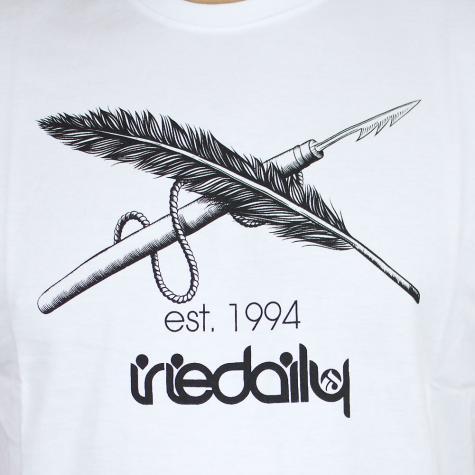 Iriedaily T-Shirt Harpoon Flag weiß