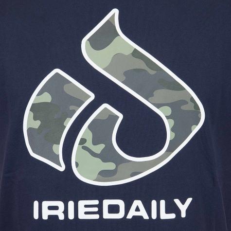 Iriedaily T-Shirt Original Glyph dunkelblau