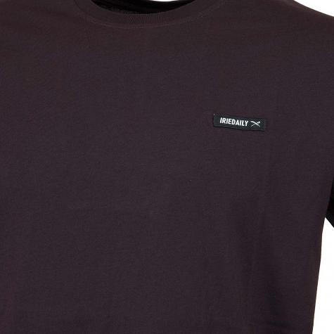 Iriedaily T-Shirt Served Flag aubergine
