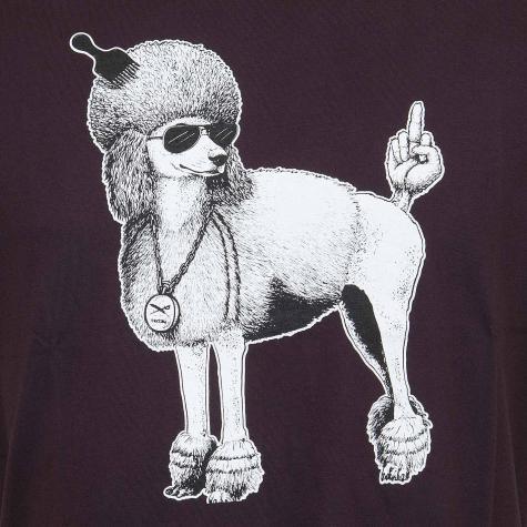 Iriedaily T-Shirt Whats Up Dog aubergine