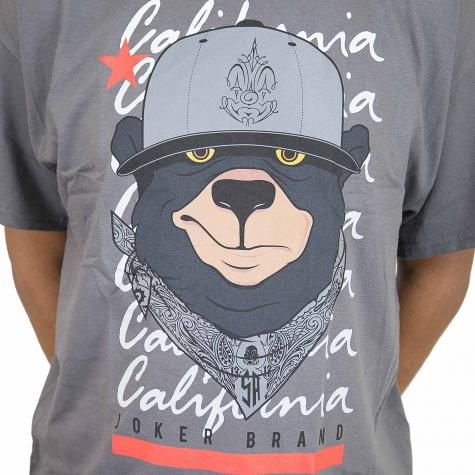 Joker Brand T-Shirt Cali Bear dunkelgrau