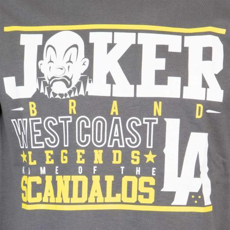 Joker Scandalos T-Shirt Herren grau