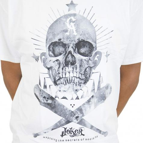 Joker Brand T-Shirt Skull Clown weiß
