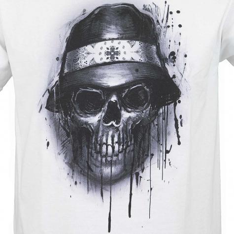 Joker Brand T-Shirt Skull weiß