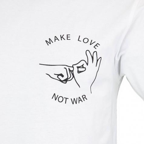 Mister Tee T-Shirt Make Love weiß