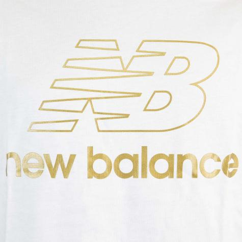 New Balance T-Shirt Athletics Podium weiß
