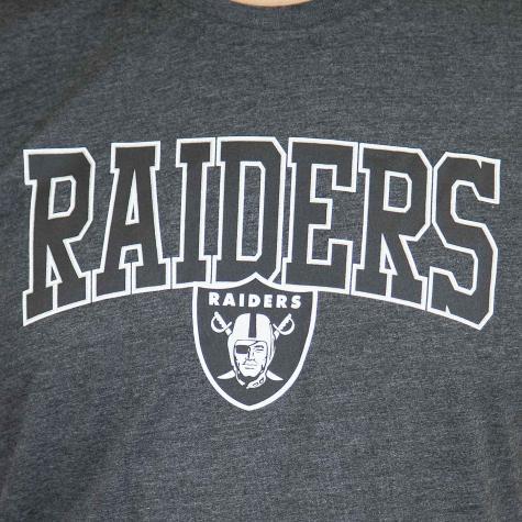 New Era T-Shirt NFL Script Oakland Raiders dunkelgrau