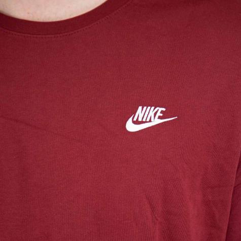 Nike T-Shirt Embroidered Futura rot/weiß