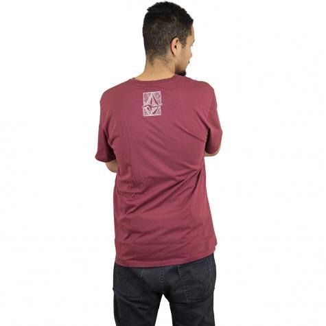 Volcom T-Shirt Edge weinrot