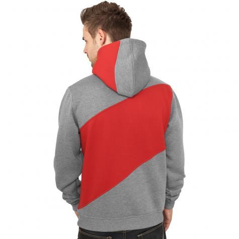 Urban Classics Hoody Zig Zag grau/rot/schwarz