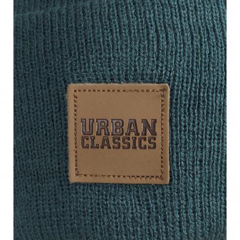 Urban Classics Leatherpatch Long Beanie jasper