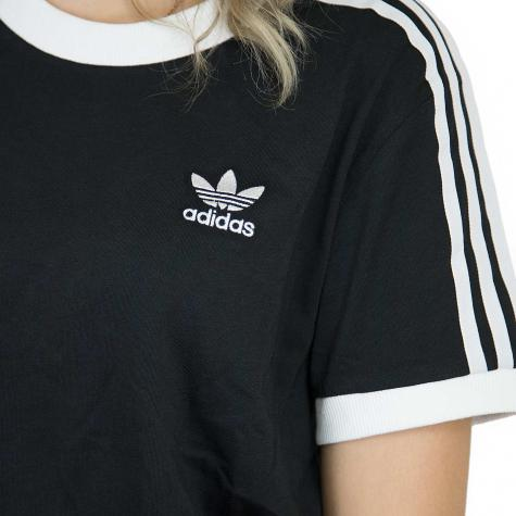 Adidas Originals Damen T-Shirt 3 Stripes schwarz/weiß