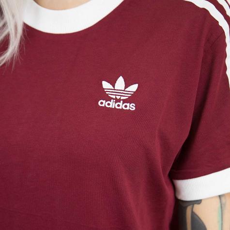 ☆ Adidas Originals Damen T-Shirt 3 Stripes weinrot - hier ...