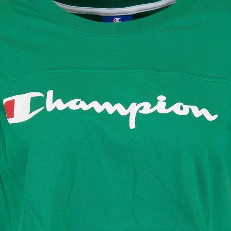 Champion Damen T-Shirt Croptop grün
