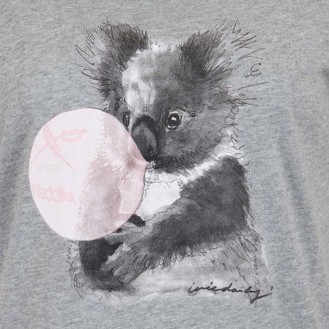 Iriedaily Damen T-Shirt Koala Bubble grau