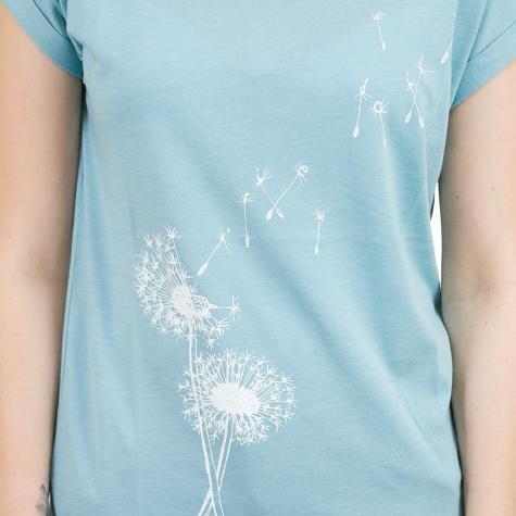 Iriedaily Damen T-Shirt Pusteblume türkis