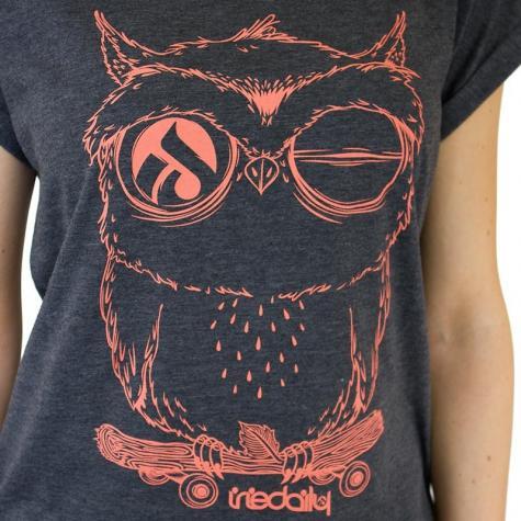 Iriedaily Damen T-Shirt Skateowl 2 anthracite melange