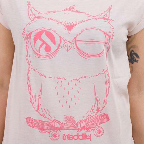 Iriedaily Damen T-Shirt Skateowl 2 rosa meliert