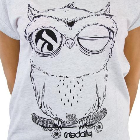 Iriedaily Damen T-Shirt Skateowl 2 weiß melange