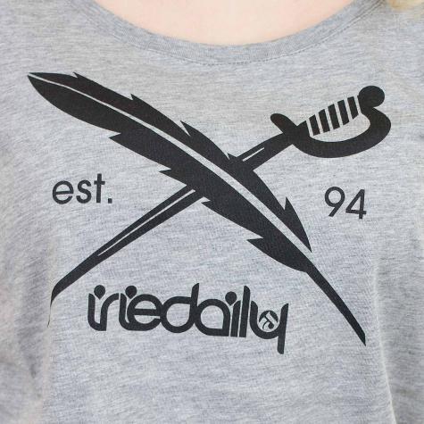 Iriedaily Damen T-Shirt The Flag grau