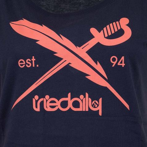 Iriedaily Damen T-Shirt The Flag navy