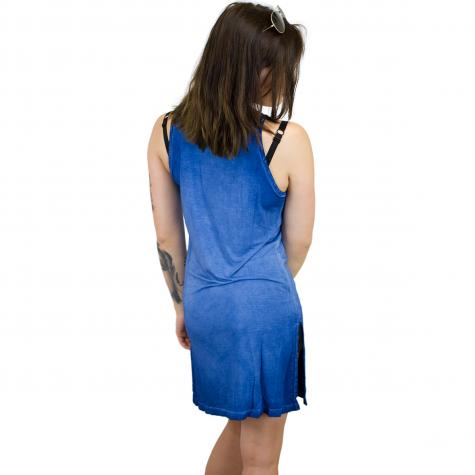Khujo Kleid Irmel Palmtree Print blau