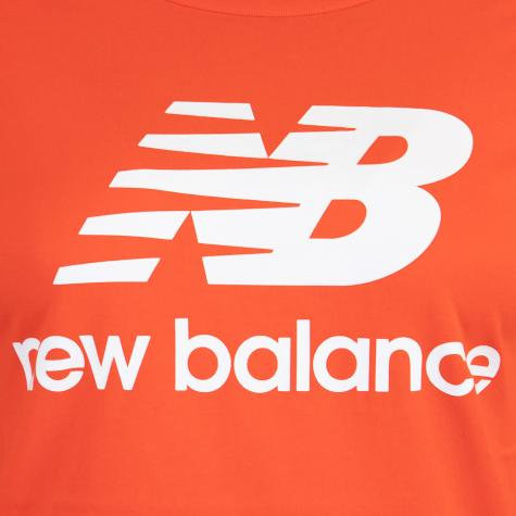 New Balance Essentials Stacked Logo Women T-Shirt orange