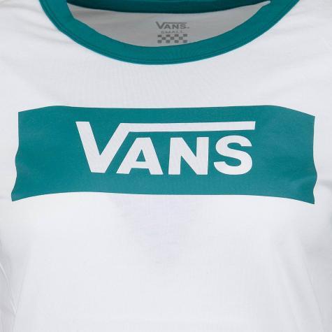 Vans Damen T-Shirt V Tangle Range Ringer weiß/grün