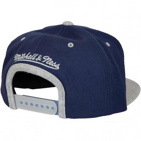 Mitchell & Ness Snapback Cap 2tone Heather Minnesota Timberwolves dunkelblau/grau