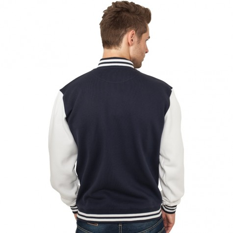 Sweatjacke Urban Classics 2-Tone College Regular F navy/white