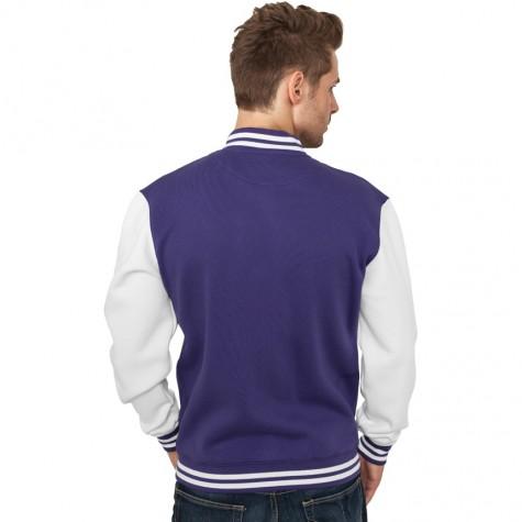 Sweatjacke Urban Classics 2-Tone College Regular F purple/white