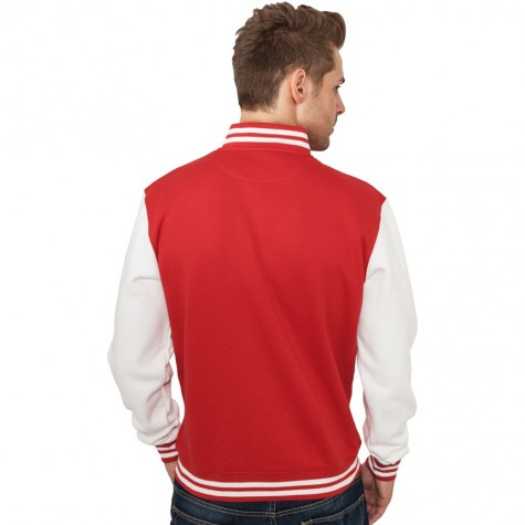 Sweatjacke Urban Classics 2-Tone College Regular F red/white