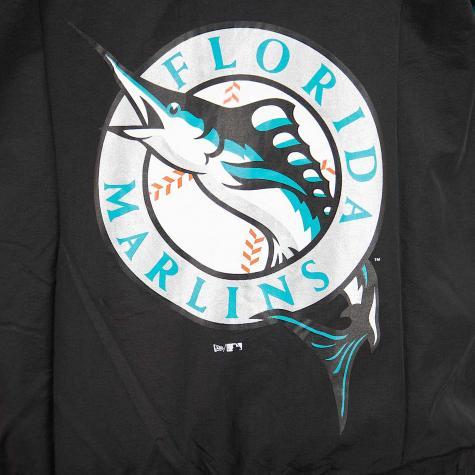 New Era Trainingsjacke MLB Coast 2 Coast Florida Marlins schwarz/türkis