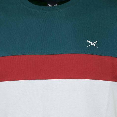 Iriedaily T-Shirt Court grau/rot/blau