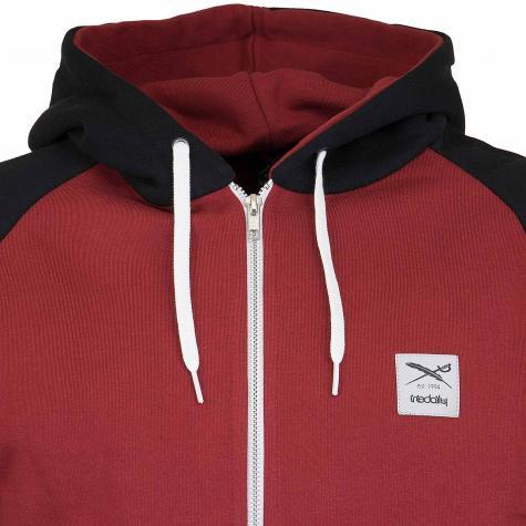 Iriedaily Zip-Hoody De College rot/schwarz