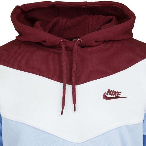 Nike Damen Hoody Heritage Fleece weinrotpink