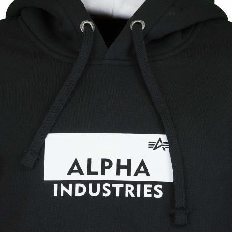 Alpha Industries Hoody Box Logo schwarz