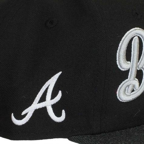New Era 9FIFTY Cap Vintage Script Atlanta Braves schwarz