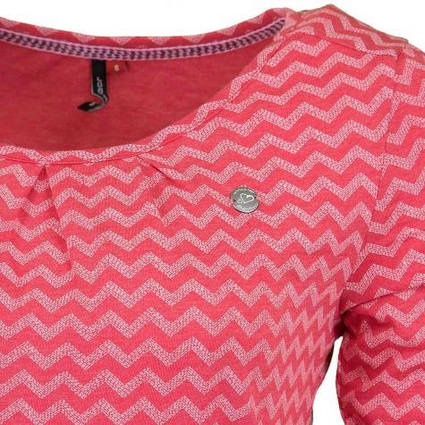 Ragwear Kleid Alexa Zig Zag E pink