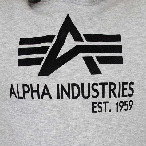 Alpha Industries Big A Classic Hoody grau