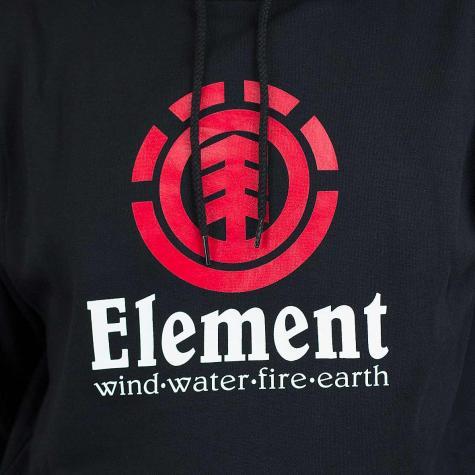 Element Hoody Vertical flint schwarz/rot